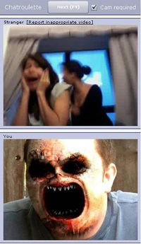 Chatroulette scary