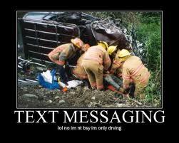 Texting no joke